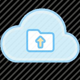 cloud, folder, upload, upload data, upload folder icon