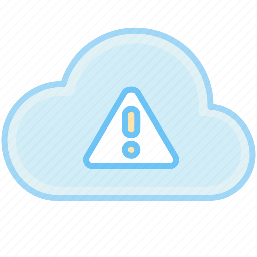 attention, cloud, danger, error, internet, problem, warning, web icon