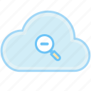 cloud, minus, out, view, zoom icon
