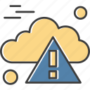 alert, cloud, computing, danger, warning
