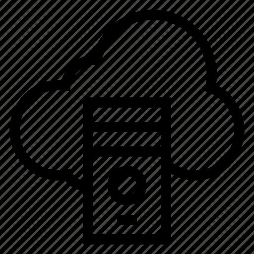 cloud, computing, data, network, server, storage, weather icon