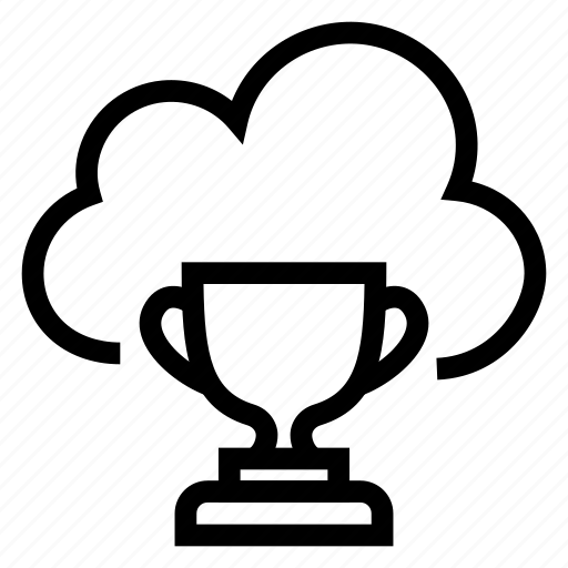 award, cloud, computing, cup, trophy, weather, winner icon