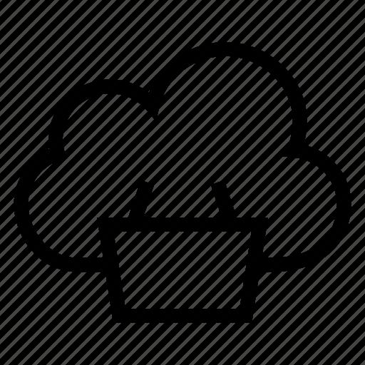 basket, buy, cart, cloud, computing, shopping, weather icon
