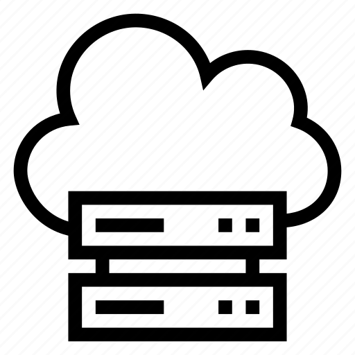 cloud, computing, data, network, server, storage, weather icon