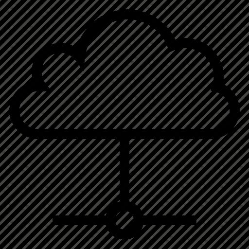 cloud, computing, data, network, share, storage, weather icon