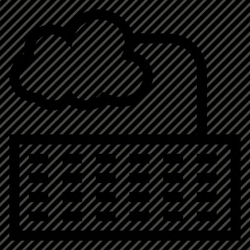 cloud, computer, computing, device, key, keyboard, weather icon