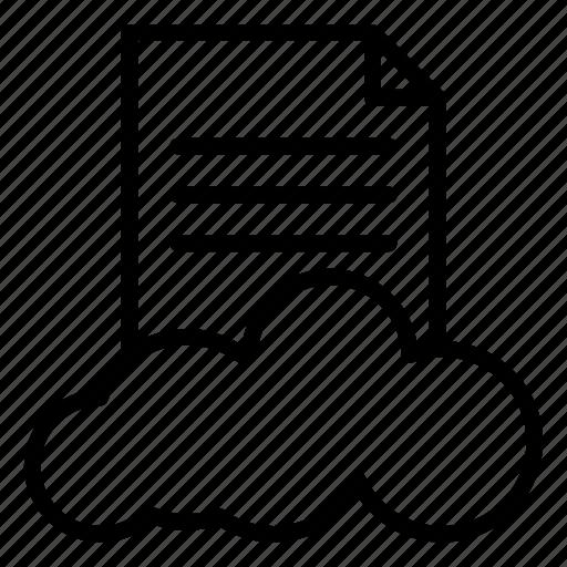 database, document, file, server, storage icon