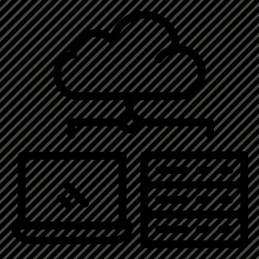 cloud, computing, network, server, storage icon