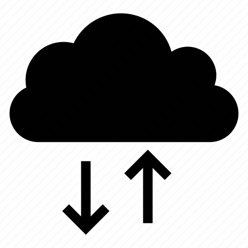 arrow, cloud, computing, download, upload, weather icon
