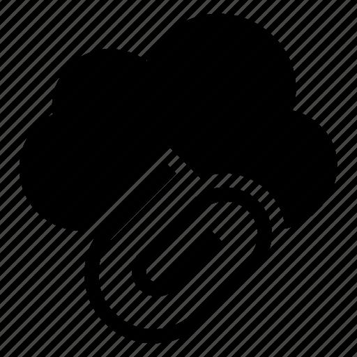 attach, attachment, clip, cloud, computing, file, weather icon