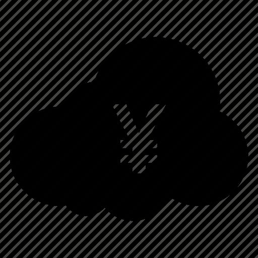 cash, cloud, computing, finance, money, payment, weather icon