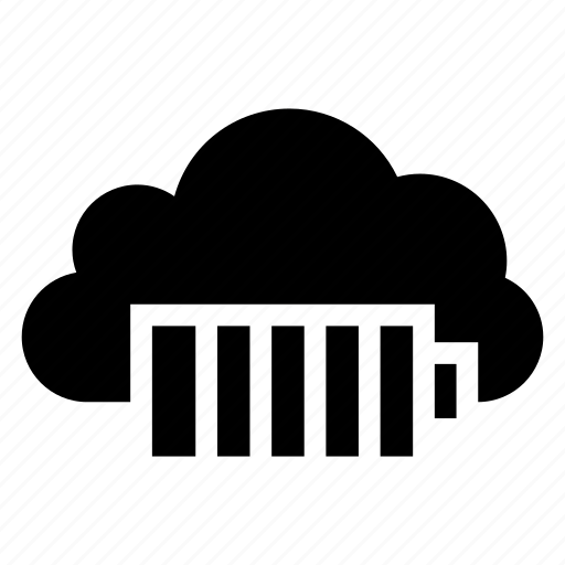 battery, charge, charging, cloud, computing, energy, weather icon