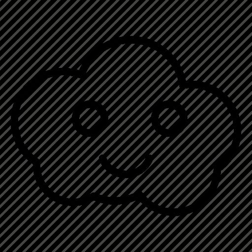 Cloud Face Server Smiley Storage Icon