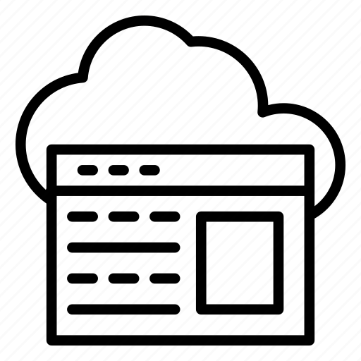 cloud, internet, server, webpage, window icon