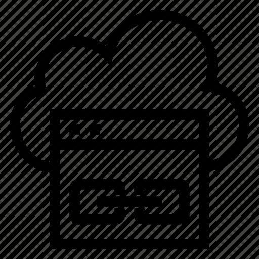 cloud, computing, internet, link, weather, weblink, website icon