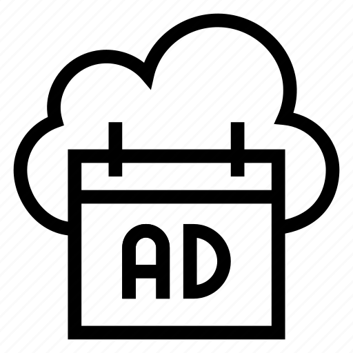 ad, advertisement, cloud, computing, marketing, promotion, weather icon