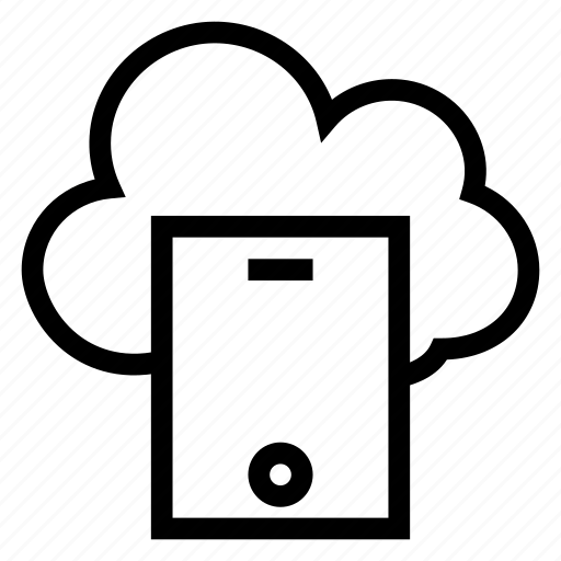 call, cloud, computing, mobile, smartphone, telephone, weather icon