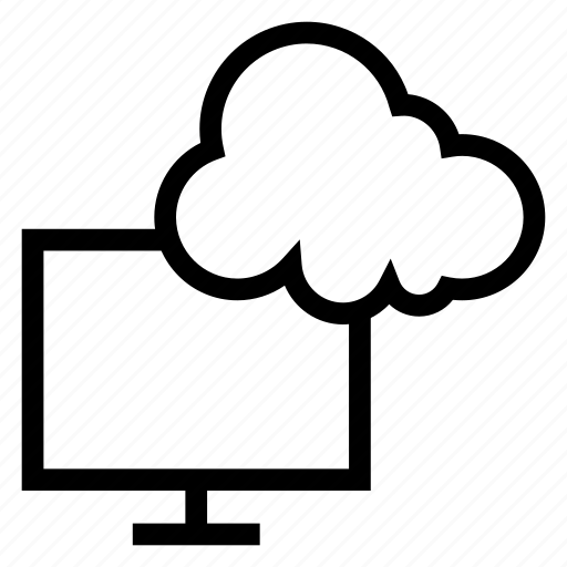 cloud, computer, computing, display, monitor, screen, weather icon