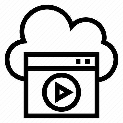 cloud, computing, film, media, movie, video, weather icon