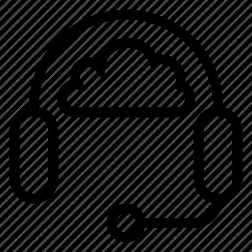 audio, cloud, computing, headphones, music, sound, weather icon