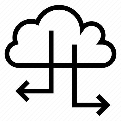 cloud, computing, connection, network, sharing, social, weather icon