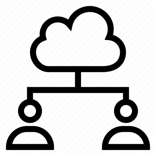 cloud, computing, group, people, team, users, weather icon