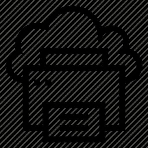cloud, computing, copier, pointer, printerpaper, printing, weather icon