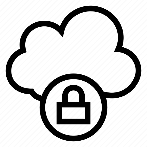 cloud, lock, password, protection, secure, security, weather icon