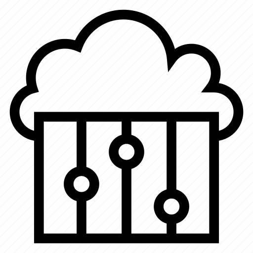 cloud, computing, control, options, player, settings, weather icon