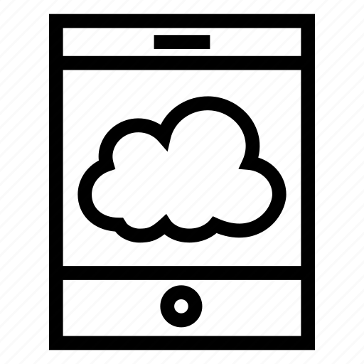 cloud, computing, device, mobile, phone, smartphone, weather icon