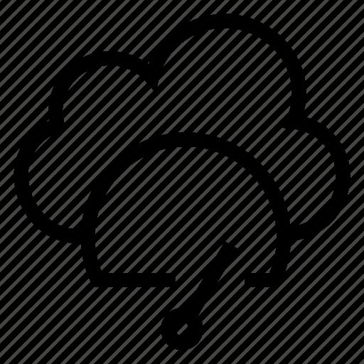 cloud, computing, dashboard, measure, speedometer, weather icon
