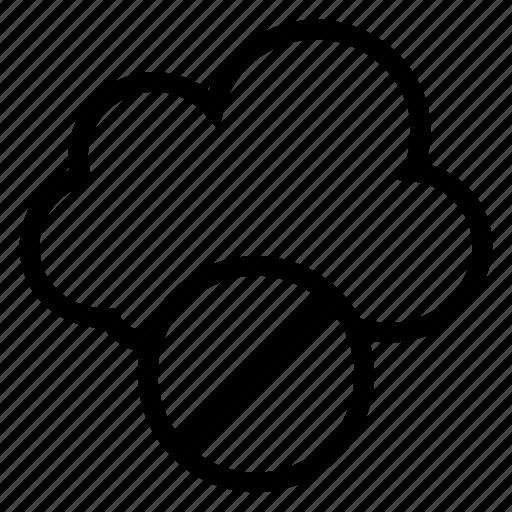 block, cancel, cloud, computing, lock, stop, weather icon