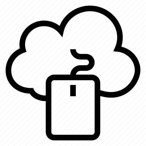 click, cloud, computer, computing, device, mouse, weather icon