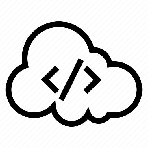cloud, coding, computing, development, programming, weather, web icon