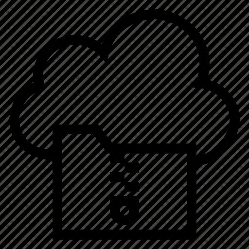 cloud, computing, document, file, weather, zip, zipfolder icon