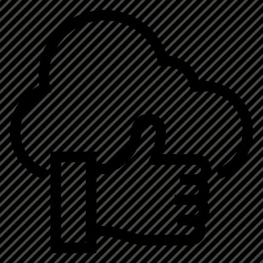 bookmark, cloud, computing, favorite, like, thumbsup, weather icon