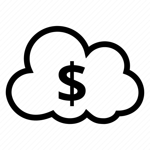 cloud, computing, currency, dollar, finance, money, weather icon