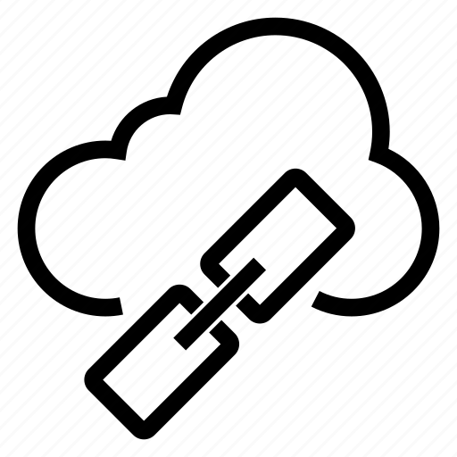 chain, cloud, computing, link, network, weather, web icon