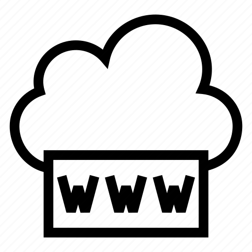 cloud, computing, internet, weather, web, website, www icon
