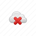 cloud, cloud computing, computing, delete, restricted, x icon