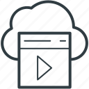 cloud multimedia, online media, media storage, cloud media, cloud storage icon