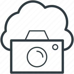 cloud camera, cloud image, cloud photo, cloud picture, online media icon