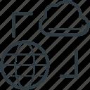 cloud network, cyberspace, global communication, internet, worldwide network icon