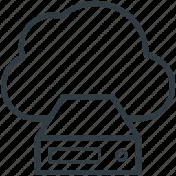 cloud computing, cloud storage, data storage, file storage, hard drive icon