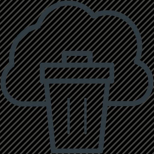 cloud trash, delete, dustbin, recycle bin, trashcan icon