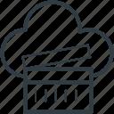 cloud clapper, online cinema, online entertainment, multimedia cloud, online multimedia icon