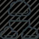 cyberspace, cloud computing, cloud network, social media icon