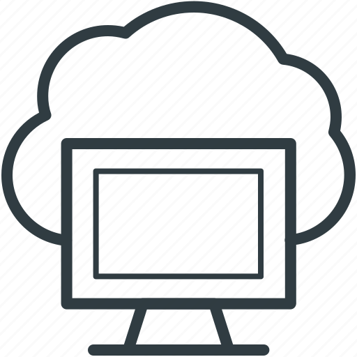 cloud connectivity, cloud network, internet coverage, monitor, network fidelity icon