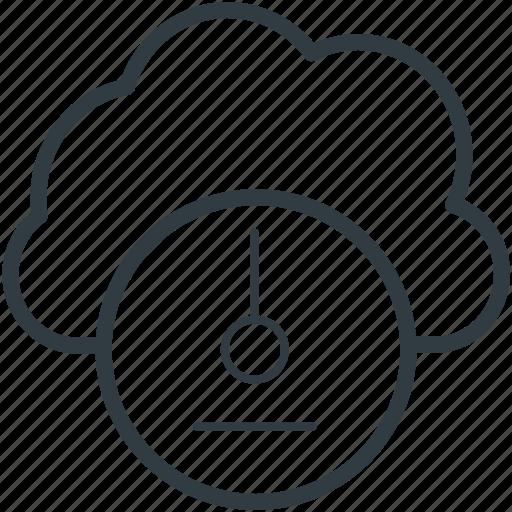 cloud hosting, cloud network, fast hosting, internet speed, speedometer icon