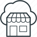 cloud computing, ecommerce, online shop, online shopping, online store icon